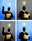 Big idea silhouette background Stock Photo