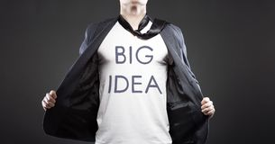Big idea, young successful businessman Stock Images