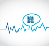 Big ideas brain lifeline illustration design Royalty Free Stock Photos