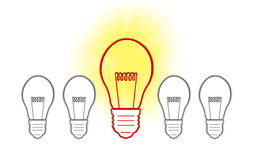 Big Ideas creative light bulb Royalty Free Stock Photography