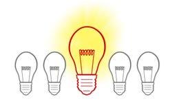 Big Ideas creative light bulb. Concept Royalty Free Stock Photography