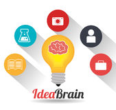 Big ideas graphic design with icons. Illustration eps 10 Royalty Free Stock Photos