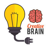 Big ideas graphic design with icons. Illustration eps 10 Stock Images