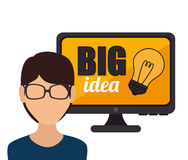 Big ideas graphic design with icons. Illustration eps 10 Stock Image