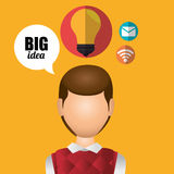 Big ideas graphic. Design with icons, vector illustration eps10 Stock Image