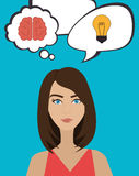 Big ideas from young minds Royalty Free Stock Photo