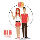 Big ideas from young minds Royalty Free Stock Photos
