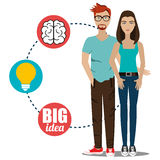 Big ideas from young minds Royalty Free Stock Image