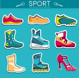 Big illustration collection set of sport shoe Royalty Free Stock Image
