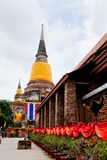 Big Image of buddha in ayutthaya ancient city Royalty Free Stock Photography