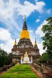 Big Image of buddha in ayutthaya ancient city Royalty Free Stock Photo