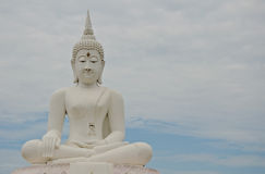 Big image of buddha in thailand Royalty Free Stock Photography