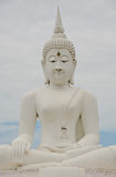 Big image of buddha in thailand Royalty Free Stock Photos