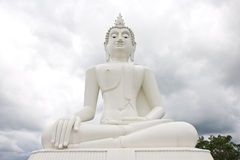 Big image of buddha in thailand Royalty Free Stock Images