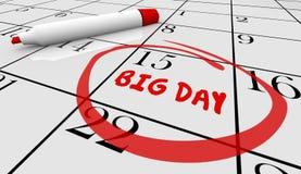 Big Important Day Date Reminder Circled Calendar Royalty Free Stock Image