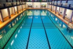 Big Indoor Swimming Pool Stock Photo