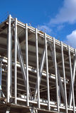 Big industrial building construction. Metal frame mounting Stock Images