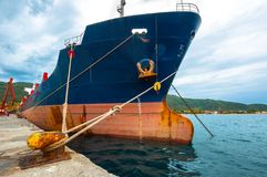 Big cargo ship on the water Royalty Free Stock Photo