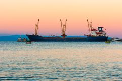 Big cargo ship on the water Royalty Free Stock Photos