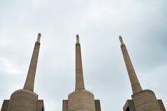 Big industrial chimneys Stock Images