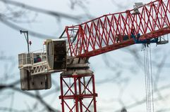 Big industrial crane Royalty Free Stock Images