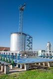 Big industrial oil tanks Royalty Free Stock Image