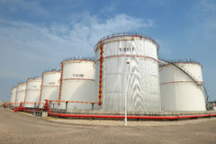 Big Industrial oil tanks Royalty Free Stock Image