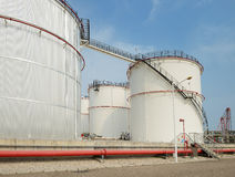Big Industrial oil tanks Stock Photo