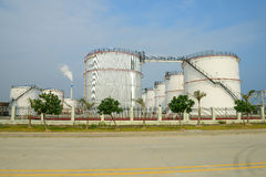 Big Industrial oil tanks Stock Photography