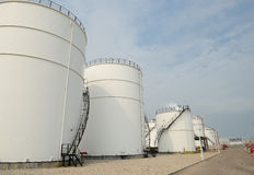 Big Industrial oil tanks Royalty Free Stock Photo