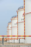 Big Industrial oil tanks Royalty Free Stock Photos
