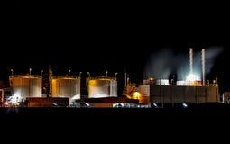 Big Industrial oil tanks Stock Image