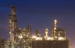 Big Industrial oil tanks in a refinery Stock Image