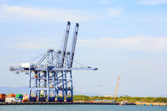 Big Industrial Port Royalty Free Stock Photo