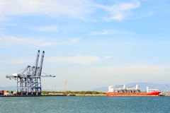 Big Industrial Port Royalty Free Stock Photography