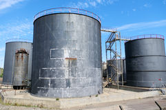 Big Industrial Sized Storage Tanks Stock Photography