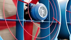 Big industrial ventilation fan. Cooling industrial air conditioning units.