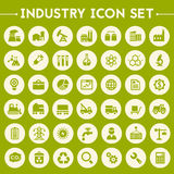 Big Industry icon set. Trendy flat design big Industry icons set on round buttons vector illustration