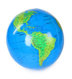 Big inflatable globe view at america isolated Royalty Free Stock Photo