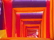 Big inflatable tunnel Royalty Free Stock Photos