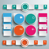 Big Infographic Drops Batched Rectangles Circles P Royalty Free Stock Image
