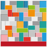 Big Infographic Squares Background Stock Photo