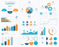 Big infographic vector elements collection to disp Stock Photos