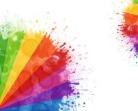 Big ink colorful blots royalty free illustration