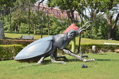 Big insect statue at NTR garden, Hyderabad Stock Images