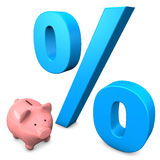 Big Interest Piggy Bank Stock Photography