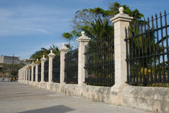 Big iron fence surrounding the Castle of the Force Stock Photography