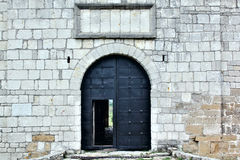 Big iron gates in the castle Stock Photography