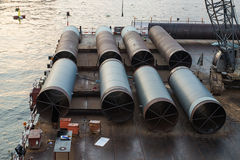 Big Iron Pipe Royalty Free Stock Images