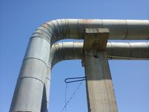 Big iron pipes Stock Image